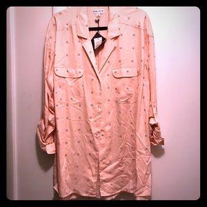 Ava & Viv Pink Blouse Size 3X